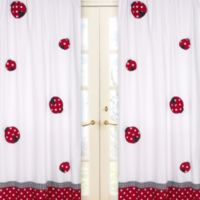 Sweet Jojo Design Polka Dot Ladybug 84-Inch Window Panels (Set of 2)