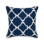 Jill Rosenwald Hampton Links Square Throw Pillow in Navy/White