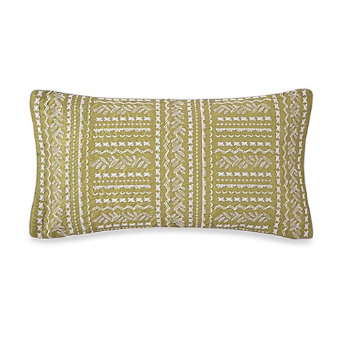 Collier Campbell Grandi Flora Oblong Throw Pillow in Green