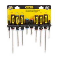 Black & Decker® Stanley 10-Piece Standard Fluted Screwdriver Set