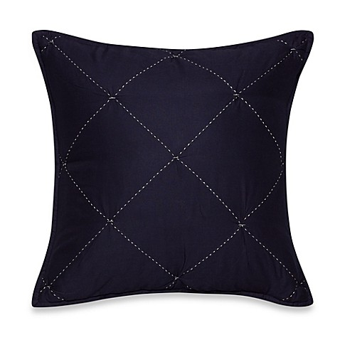 Nautica Decorative Pillows Navy : Nautica Lawndale Square Throw Pillow in Navy - Bed Bath & Beyond