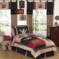 Sweet Jojo Designs Pirate Treasure Cove 4-Piece Twin Bedding Set