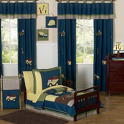 Construction Toddler Bedding Set
