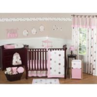 Sweet Jojo Designs Mod Dots Collection 11-Piece Crib Bedding Set in Pink/Chocolate