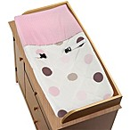 Sweet Jojo Designs Mod Dots Collection Changing Pad Cover in Pink/Chocolate