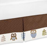 Sweet Jojo Designs Night Owl Toddler Bed Skirt