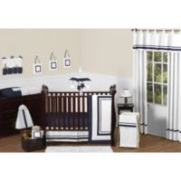 Sweet Jojo Designs Hotel 11-Piece Crib Bedding Set in White/Navy