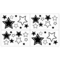 Sweet Jojo Designs Hotel Wall Decals in White/Black (Set of 4)