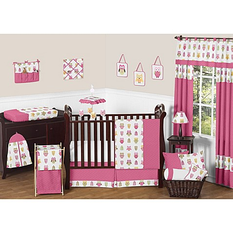 Sweet Jojo Designs Happy Owl Crib Bedding Collection In
