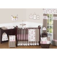 Sweet Jojo Designs Mod Elephant 11-Piece Crib Bedding Set in Pink/Taupe
