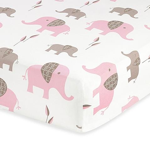 Sweet Jojo Designs Mod Elephant Fitted Crib Sheet Buybuy