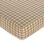 Sweet Jojo Designs Teddy Bear Fitted Crib Sheet in Plaid