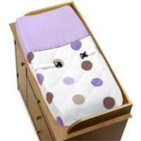 Sweet Jojo Designs Mod Dots Chaging Pad Cover in Purple/Chocolate