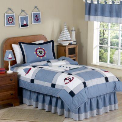 sweet jojo designs come sail away 3piece fullqueen bedding set
