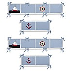 Sweet Jojo Designs Come Sail Away 4-Piece Crib Bumper