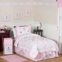 Sweet Jojo Designs Ballerina Full/Queen Bedding Set