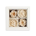 9-Inch Square Floral Shadowbox Wall Art