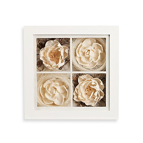 9 inch square floral shadowbox wall art bed bath beyond. Black Bedroom Furniture Sets. Home Design Ideas