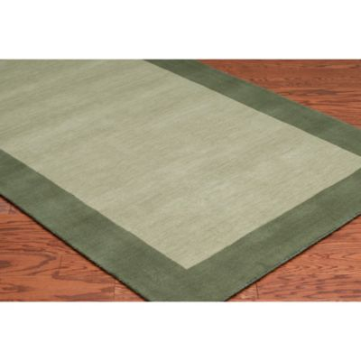 Rizzy Home 8 Foot X 10 Bordered Platoon Area Rug In Light Green