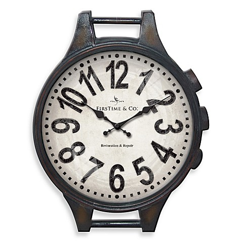 FirsTime® Metal Wrist Watch Wall Clock