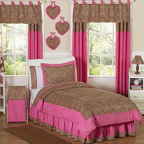Sweet jojo designs cheetah girl bedding collection bed for Sweet jojo designs bathroom
