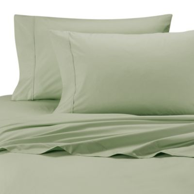 Wamsutta Cool Touch Percale Egyptian Cotton Twin Ed Sheet In Green