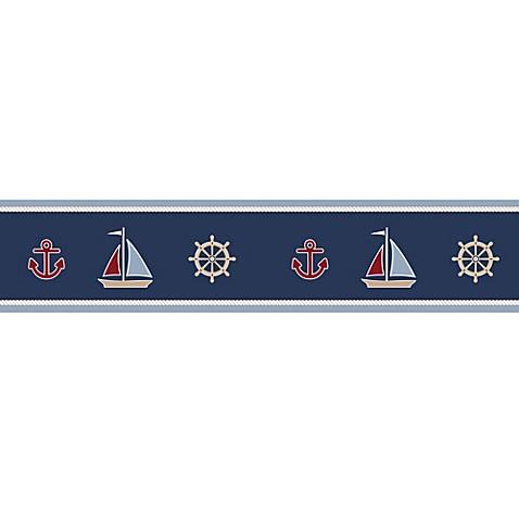 Sweet Jojo Designs Nautical Nights Wallpaper Border Bed
