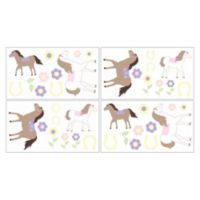 Sweet Jojo Designs Pretty Pony Wall Decals
