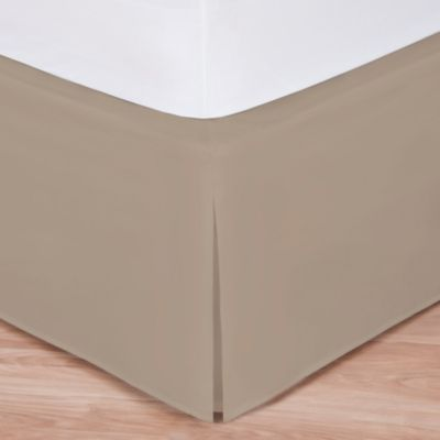 wraparound wonderskirt king bed skirt in taupe