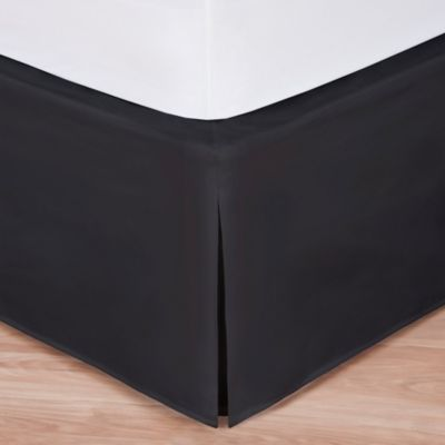 wraparound wonderskirt twin bed skirt in black