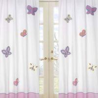 Sweet Jojo Designs Erfly Window Curtain Panel Pair In Pink Purple