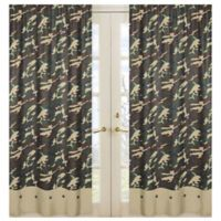 Sweet Jojo Designs Camo 84-Inch Window Panel Pair in Green (Set of 2)