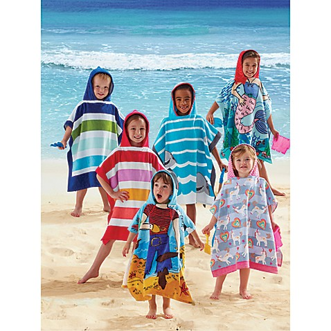 Kids Printed Hooded Beach Towels Bed Bath Amp Beyond