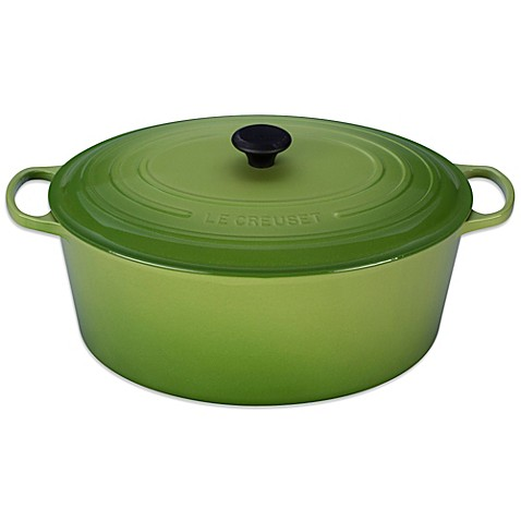 buy le creuset signature 15 5 qt round french oven in palm from bed bath beyond. Black Bedroom Furniture Sets. Home Design Ideas