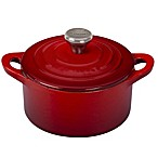Le Creuset® 0.33 qt. Mini Round Cocotte with Stainless Steel Knob in Cherry