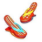 Stripe Flip Flop Boca Clips® in Red (Set of 2)