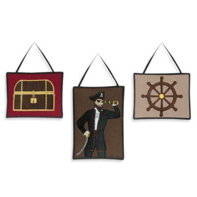 Sweet Jojo Designs Pirate Treasure Cove 3 Piece Wall Hanging Set