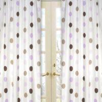 Sweet Jojo Designs Mod Dots Window Panel Pair in Purple/Chocolate