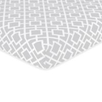 Sweet Jojo Designs Diamond Crib Sheet in Grey/White