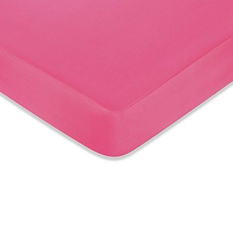 Dark Pink Crib Sheet