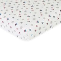 Sweet Jojo Designs Nautical Nights Fitted Crib Sheet in Nautical Print