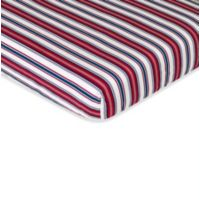 Sweet Jojo Designs Nautical Nights Fitted Crib Sheet in Stripe