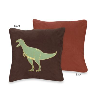 Sweet Jojo Designs Dinosaur Land Decorative Throw Pillow
