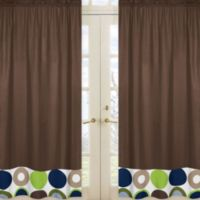 Sweet Jojo Designs Designer Dot Window Panel Pair in Chocolate