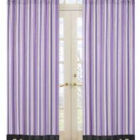 Sweet Jojo Designs Kaylee Window Panel Pair in Stripe Print