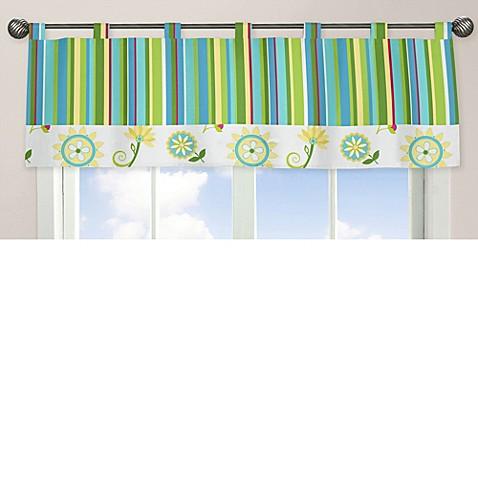 Sweet jojo designs layla striped window valance bed bath for Sweet jojo designs bathroom
