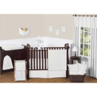 Sweet Jojo Designs Minky Dot 11-Piece Crib Bedding Set in White