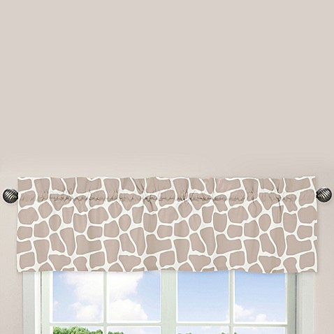 Sweet Jojo Designs Giraffe Window Valance Buybuy Baby