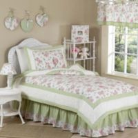 Sweet Jojo Designs Riley's Roses 4-Piece Twin Bedding Set