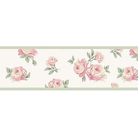 Sweet jojo designs riley 39 s roses wallpaper border bed for Sweet jojo designs bathroom
